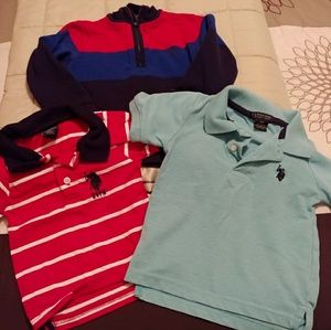 Bundle of U.S. Polo Assn boys shirts 2-3T